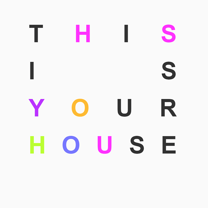 Screenshot of This is your house typography experiment